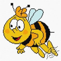 FREE PATTERNS - Cartoons - Bee Gucio - Gvello Stitch