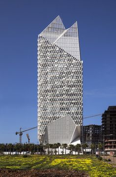Casablanca Finance City Tower / Morphosis Architects | ArchDaily Casablanca, Morphosis Architects, Facade Architecture, Morocco, Skyscraper, Finance, Multi Story Building, Exterior, City