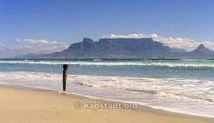 Capetown: Sunset view - Table mountain view from Bloubergstrand Kapstadt, Südafrika South Africa
