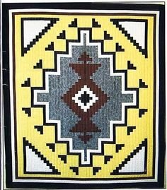 Two Gray Hills Native American Quilt Pattern by J Michelle Watts Designs