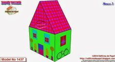 Happy Village by Edificios de Papel  - Casita 5 Las 10 casitas de papel del fichero incluyen 2 modelos en blanco para que vuestra imaginación coloree y pinte tantas como queráis y aumentéis el tamaño de vuestra ciudad!