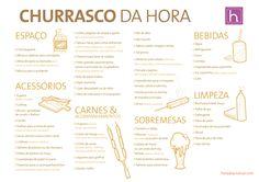Hora de Arrumar: Checklist básico para Churrasco