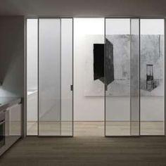 porta scorrevole in alluminio e vetro g like collezione moderno by