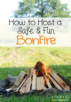 Great ideas for hosting a safe and fun bonfire this fall!!