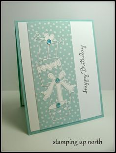 stamping up north,poppy stamps, Birthday card