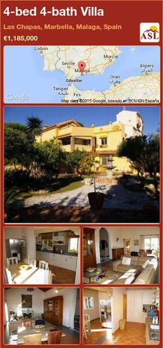 4-bed 4-bath Villa in Las Chapas, Marbella, Malaga, Spain ►€1,185,000 #PropertyForSaleInSpain