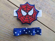 Super Hero Logo... Spider Man Ribbon Sculpture Set by patyg13, $6.25