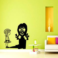 Wall Vinyl Decal Sticker Girl Wathcing on Her by VinylDecals2U