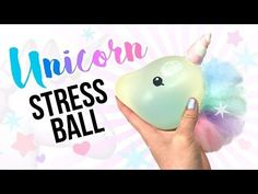 DIY Unicorn STRESS BALL!! Make A Sparkly and Squishy Stress Ball! - YouTube