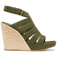 9f615db5d8d Tory Burch Bailey Multi-Strap Espadrilles Wedges (450 BRL) ❤ liked on  Polyvore