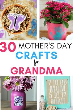 Mother's Day Crafts for Grandmas - With Mother's Day right around the corner, we can't forget the special woman who started it all - Grandma! Kids are so fortunate if they have a grandma in their lives. These Mother's Day crafts for Grandma are such a heartfelt way to show her some well-deserved love! #mothersdaycrafts #mothersday #mothersdaygift #grandma #craftsforgrandma #mothersdayideas