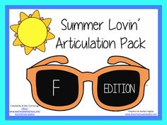 Speechie Freebies: Summer Lovin Articulation Pack! Pinned by SOS Inc. Resources. Follow all our boards at pinterest.com/sostherapy for therapy resources.