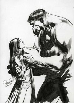 So sweet, I love gentle giants. Betty Ross & The Hulk by Carlo Pagulayan