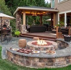 Love the arrangement of this outdoor living space.