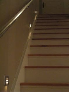 stairway lights. safety. that's a good thing.
