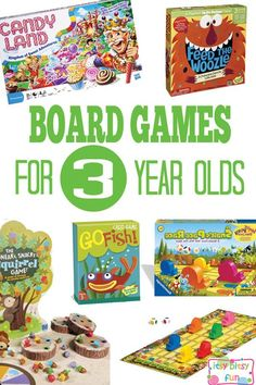 Great Board Games for 3 Year Olds - Preschool Board Games