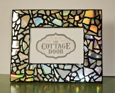 Mosaic Picture Frame. $25.00, via Etsy.