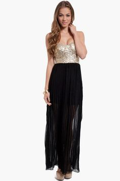 Giselle Sequin Maxi Dress $47 at www.tobi.com