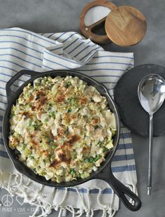 Cabbage Noodle Tuna Casserole - Low Carb, Gluten Free   Peace Love and Low Carb