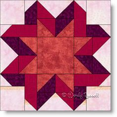 The Ribbon Star quilt block is a nine patch featuring flying geese and half square triangle patches. Star Quilt Blocks, Star Quilts, Block Quilt, Barn Quilt Patterns, Pattern Blocks, Half Square Triangle Quilts, Square Quilt, Quilting Projects, Quilting Designs