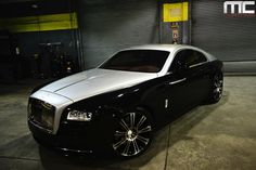 Rolls Royce Wraith Lowered on 22 Inch HRE Wheels By MC Customs - Rides Magazine