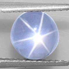 2.49 Cts Natural Lustrous Sharp 6 Rays Unheated Blue Star Sapphire Round 6 mm $