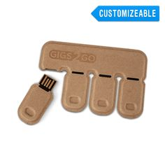 16GB disposable flash drives four to a card. Very cool and for $25 each not a bad price.