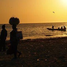 Comment: clemencecoignard said Port de pêche au Sénégal #sunset #senegal #peche #plage #nofilter
