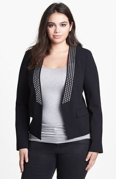 MICHAEL Michael Kors Studded Jacket (Plus Size) available at #Nordstrom