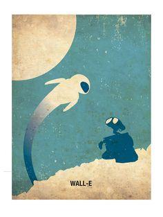 WALL-E Retro Minimalist Poster Print 11 1/2 x 15 by PosterEmpire