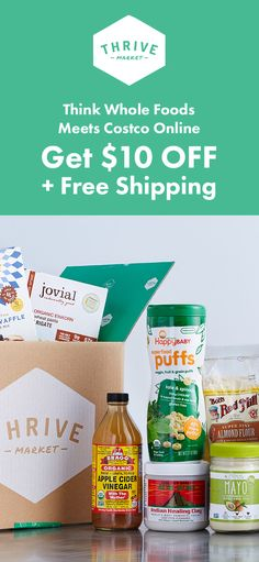 Save on Healthy Groceries! Get $10Off + Free Shipping at Thrive Market. Sign up now to get started!