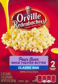 Orville Redenbacher, Pour Over Movie Theater Butter Popcorn, 9.9oz Box | Jet.com