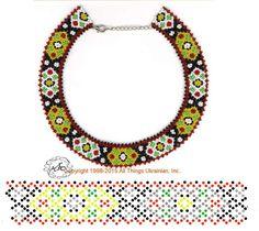 Natali Khovalko Diy Necklace Patterns, Beaded Jewelry Patterns, Beading Patterns, Necklace Tutorial, Beaded Collar, Handmade Beads, Beading Tutorials, Bead Crafts, Bead Weaving