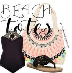 Beach Tote, plus size swim wear, plus size fashion, curvy fashion, plus size how to wear