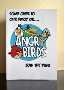 Printable Angry Birds Birthday Invitations