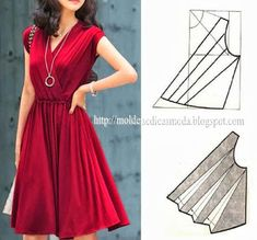 how to spread pattern for wrap dress bodice