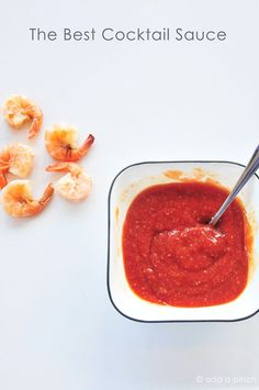 Simple, easy, delicious cocktail sauce. You'll never want to use the bottled stuff again.