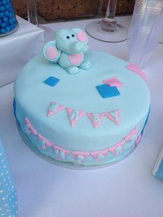 One of my BFFs is having a baby boy. The nursery is decked out in elephants, and she and I have been quilting, so this is the cake I made for the baby shower. Having A Baby Boy, Bffs, Elephants, Quilting, Birthday Cake, Nursery, Baby Shower, Cakes, Desserts