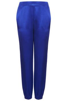 Lux Shine Joggers - These are a must have! I predict Blue will be the new color of the year! #DearTopshop