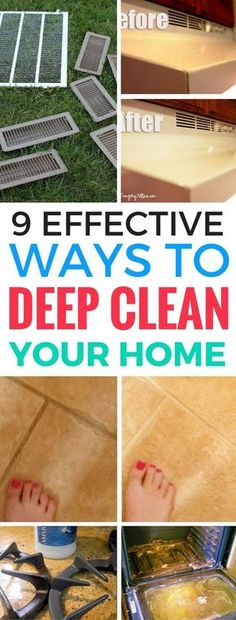 9 Effective Ways To Deep Clean Your Home Life A Ninja - Literally the BEST deep cleaning tips that I've read so far. These cleaning hacks and tips will save so much time.