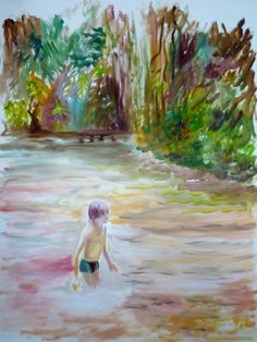 "Saatchi Art Artist Jade Fenu; Painting, ""The river "" #art"