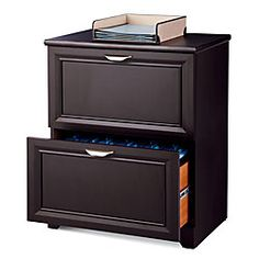 "Realspace® Magellan Collection 2-Drawer Lateral File Cabinet, 30""H x 23 1/2""W x 16 1/2""D, Espresso"