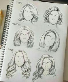 Причёски, рисунок, нарисовать