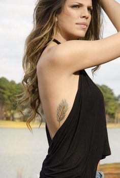 MyTat Vintage Blue Feather Tattoo
