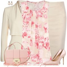 """""""Floral Print Top"""" by stay-at-home-mom on Polyvore"""