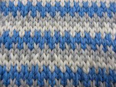 Stricken - Webmuster mit drei Farben