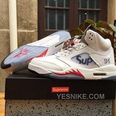 Men Basketball Shoes Supreme X Air Jordan 5 Retro AAA 274