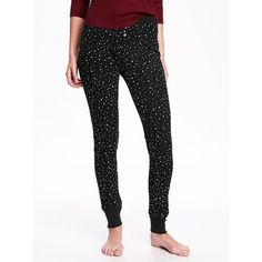 Old Navy Patterned Waffle Knit Leggings ($17) ❤ liked on Polyvore featuring pants, leggings, black, print pants, black print leggings, old navy, faux leggings and stretchy leggings