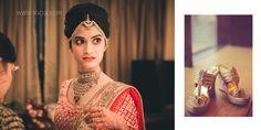 Elegant bride getting ready.  #jewellery #indianbride #gettingready #shoe #lehenga #indianwedding #designer #sgclicks #ashusheel #amdavad6 #vintage