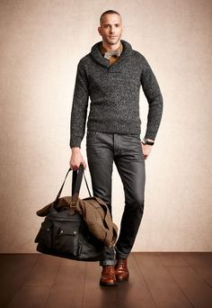 Nice touches - shoes, tweed Pedro del Hierro Sport Men - Autumn/Winter 2012-2013 #pedrodelhierro